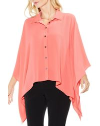 Vince Camuto - Button Down Collared Poncho - Lyst