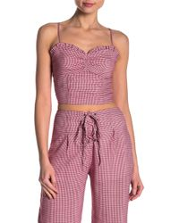 Honey Punch - Checkered Crop Top - Lyst