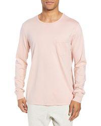 Richer Poorer Long Sleeve Pocket Lounge T-shirt - Pink
