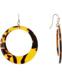 Shashi - Sami Open Drop Hoop Earrings - Lyst