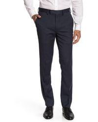 Louis Raphael Mini Herringbone Slim Fit Pants - Blue