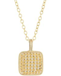 Anna Beck - 18k Gold Plated Sterling Silver Reversible Square Pendant Necklace - Lyst