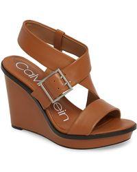 Calvin Klein - Palma Wedge Sandal - Lyst