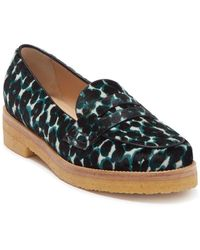 Longchamp Genuine Calf Hair Penny Loafer - Multicolor