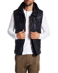 Sean John - Hooded Quilt Heavy Pu Vest - Lyst