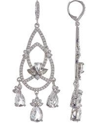 Jenny Packham - Leverback Crystal Chandelier Earrings - Lyst