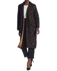 M Missoni Wool Blend Trench Coat - Black