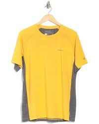 Eddie Bauer Colorblocked Crew Neck Shirt - Yellow