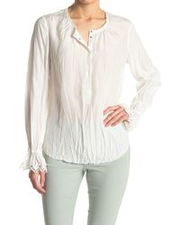 Go> By Go Silk Go All The Details Eyelet Trim Blouse - White