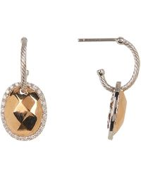 Alor - 18k Rose Gold Plated Diamond Accent Earrings - 0.26 Ctw - Lyst