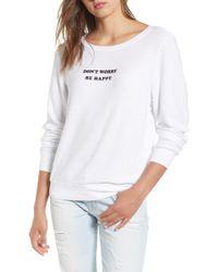 Wildfox - Be Happy Sweatshirt - Lyst