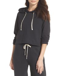 Alternative Apparel - Cropped Terry Hoodie - Lyst