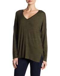 Two By Vince Camuto - Space Dyed V-neck Top - Lyst