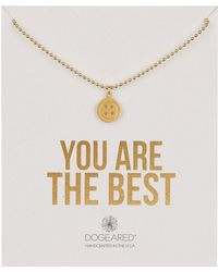 Dogeared - 14k Gold Vermeil You Are The Best Button Necklace - Lyst
