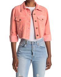 Alice + Olivia Kendall Crop Corduroy Jacket - Pink