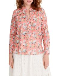 d9efbe652 Gucci Josephine Embellished Floral-print Silk-chiffon Shirt in Blue ...