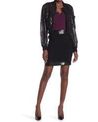 Moschino Patent Trim Mini Skirt - Black