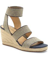 Lucky Brand Mindara Wedge Sandal - Multicolour