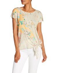 Democracy - Short Sleeve Spliced Printed Shirt - Lyst