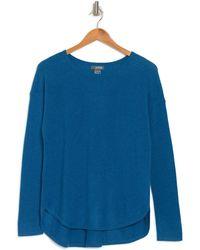 Griffen Cashmere Cashmere Pleat Back Sweater - Blue