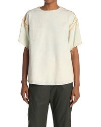 Maison Margiela Raw Hem Pocket T-shirt - White