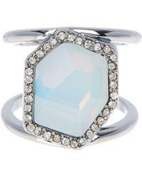 Rebecca Minkoff - Large Stone Ring - Lyst