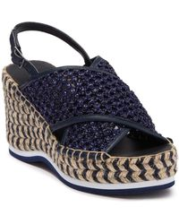 Donald J Pliner Lotti Woven Espadrille Wedge Sandals - Blue