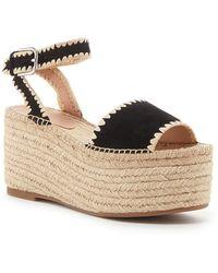 Pour La Victoire Ria Espadrille Platform Sandal - Black