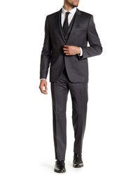 HUGO - Awart/wiran/hamen Two Button Notch Lapel Wool Suit - Lyst