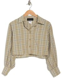 KNOWONECARES Plaid Cropped Shirt - Multicolor