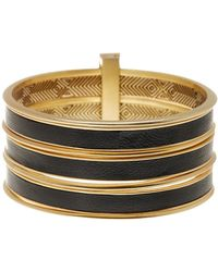 House of Harlow 1960 - The Titaness Leather Bangle Bracelet - Lyst