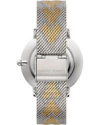 Rebecca Minkoff Women's Major Mesh Hearts Bracelet Watch, 35mm - Metallic