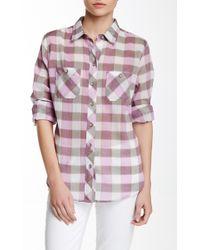 Sandra Ingrish - Gauze Printed Button-down Shirt - Lyst