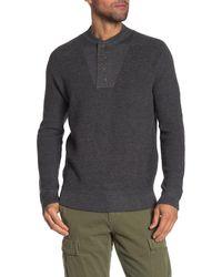 Grayers Wadsworth Wool Blend Sweater Henley - Gray