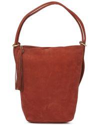 Hobo International Blaze Leather Bucket Backpack - Red
