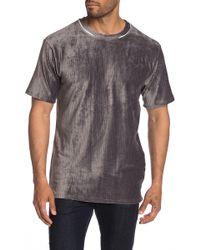 Native Youth Terrace Ribbed Velvet T-shirt - Gray