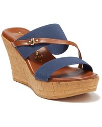 Italian Shoemakers Topanga Wedge Heel Sandal - Blue