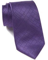 Calvin Klein - Digital Grid Silk Tie - Lyst