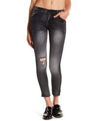 Jolt - Distressed Embellished Skinny Jeans (juniors) - Lyst