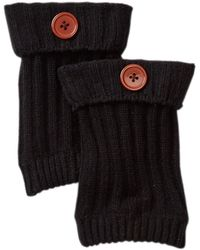 Steve Madden - Ribbed Knit Button Boot Cuff - Lyst