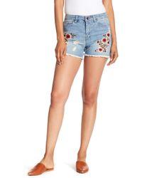 Nanette Lepore - Floral Embroidered Denim Shorts - Lyst