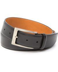 Magnanni Square Buckle Leather Belt - Black