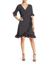Haute Rogue - Polka Dot Wrap Dress - Lyst