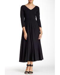 Luna Luz - V-neck 3/4 Sleeve Dress - Lyst