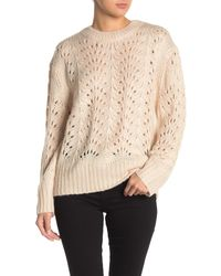 Mustard Seed Pointelle Knit Sweater - Natural
