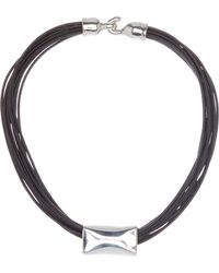 Simon Sebbag - Sterling Silver Bead & Leather Strand Necklace - Lyst