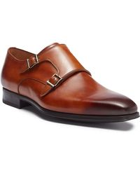 Magnanni - Carmo Leather Double Monk Strap Oxford - Lyst