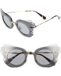 Miu Miu - 63mm Layered Butterfly Sunglasses - Lyst