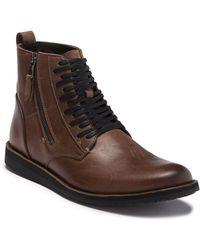 John Varvatos - Star B Side Zip Leather Boot - Lyst