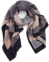 4637ed3034027 Leith - Abstract Geo Print Scarf - Lyst